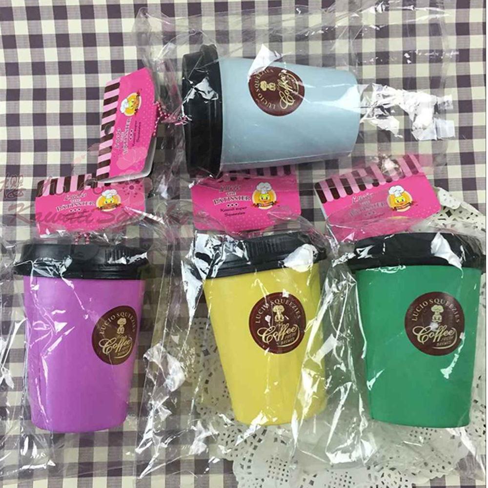 包郵LUCIO kuwaii squishy 解壓玩具模擬咖啡杯手機包包掛件#301