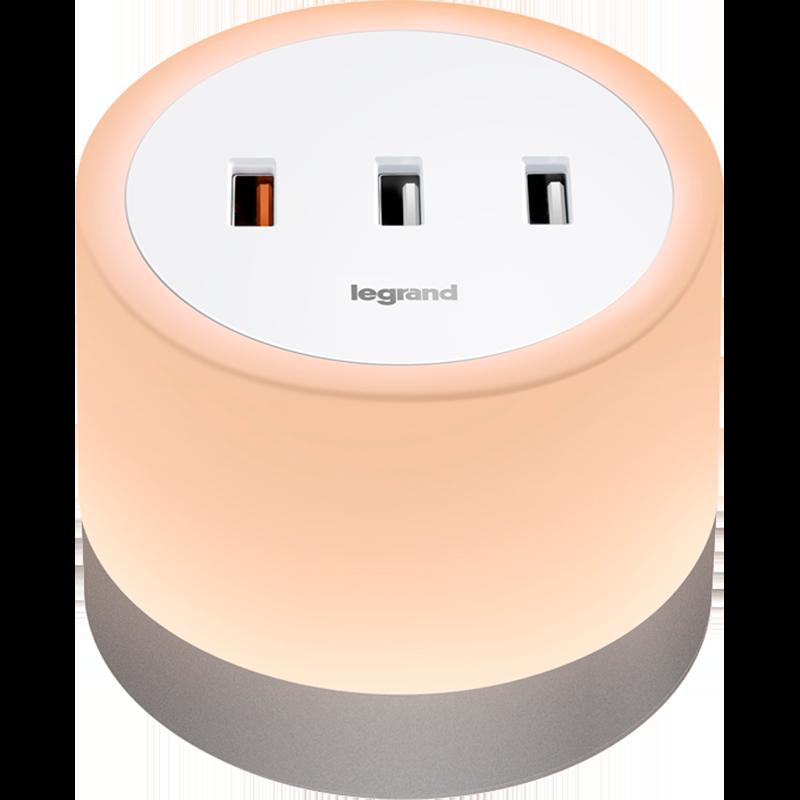快充手机充电器 usb 罗格朗触摸式感应小夜灯床头灯起夜灯卧室灯