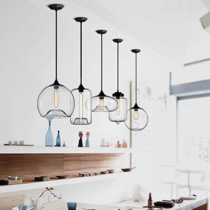 灯楼梯吧台单头酒吧创意咖啡厅北欧餐厅吊灯简约玻璃灯具 设计师