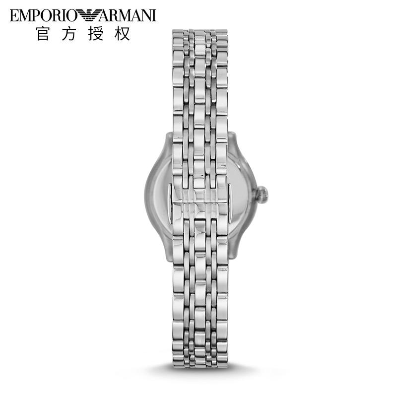 Armani阿玛尼手表女小表盘贝母石英表女表钢带镶钻防水正品ar1803