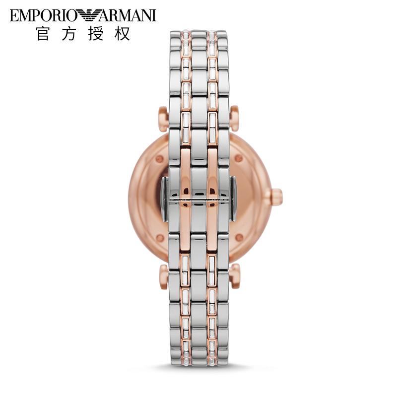 EMPORIO ARMANI阿玛尼手表女 新品时尚满天星皮带石英女表AR11293