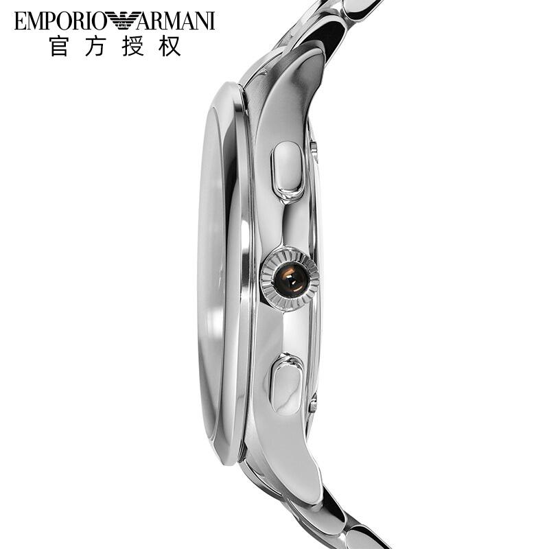 Armani阿玛尼潮流时尚石英男表 商务风男士钢带瑞士腕表ARS8700