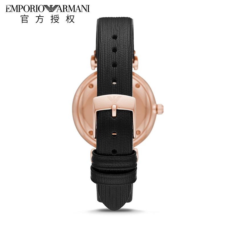佟丽娅同款Armani阿玛尼新款法棍皮表带小香风满天星手表AR11295