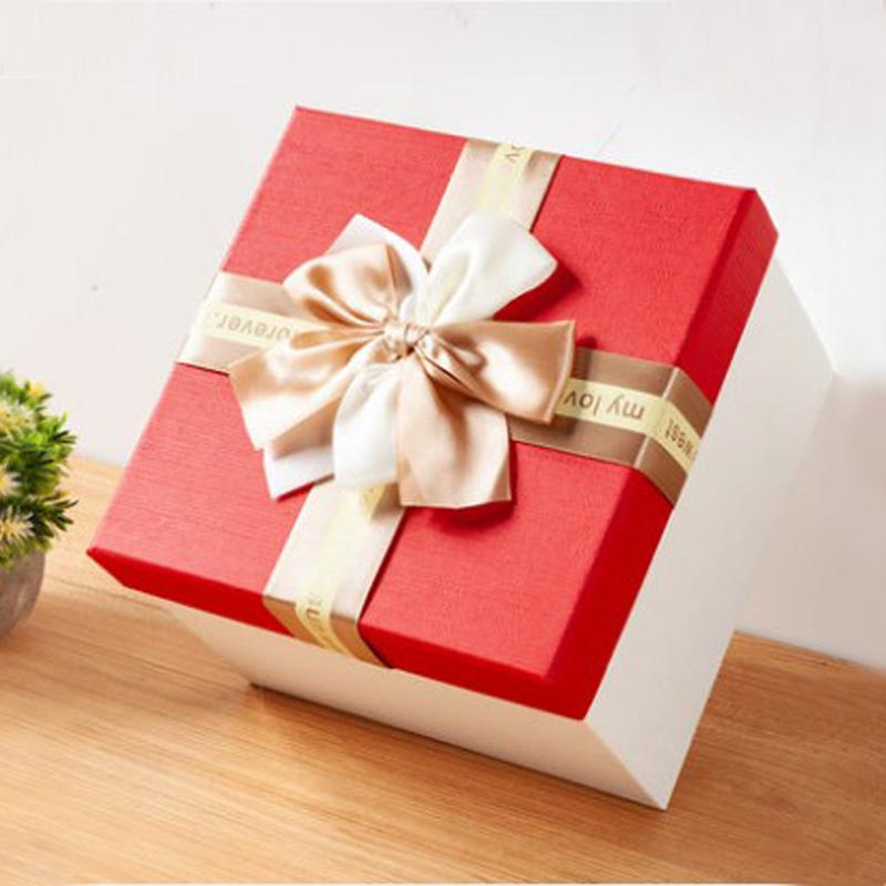 正方形礼品盒大号礼物包装盒超大伴手礼礼物盒生日送礼盒包装盒子