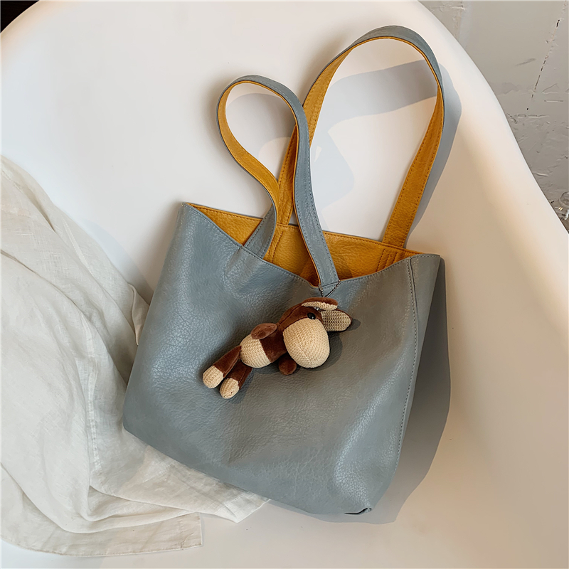 韩国ins小众设计大容量托特包女包2021新款潮时尚流行复古单肩包