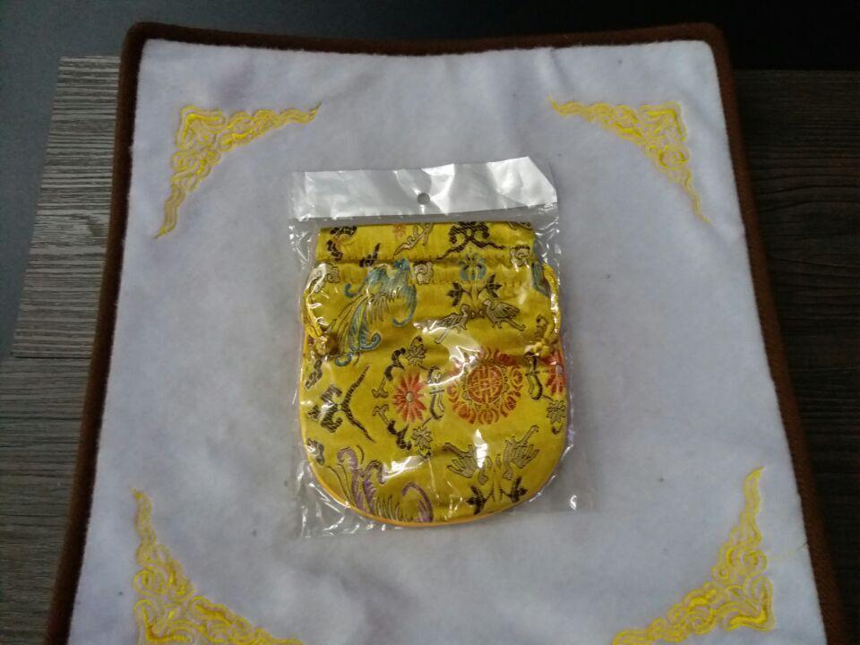 首饰包锦囊抽拉绳子锦袋佛珠念珠佛教绣花包装礼品袋 颜色备注