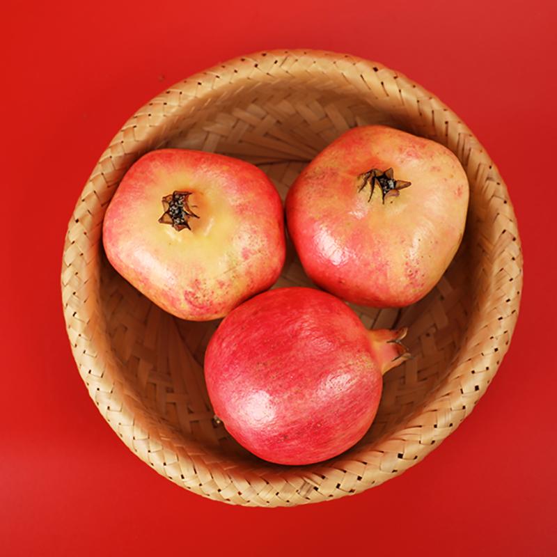 荥阳河阴突尼斯软籽石榴水果新鲜包邮无籽软子红石榴一级大果礼盒
