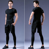 Fitness clothes men's suits tights running quick-drying clothes sports vest basketball training clothes compression clothing gym