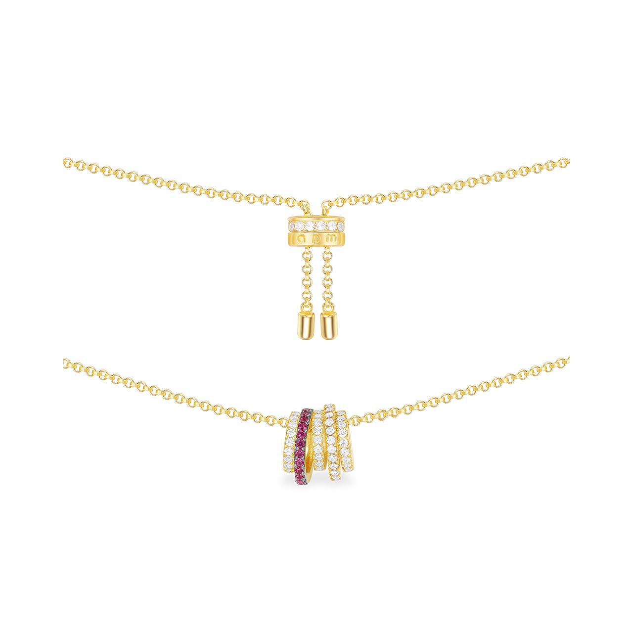 银 925 新款简约气质锁骨链颈链 多圈镂空小蛮腰项链女 Monaco APM