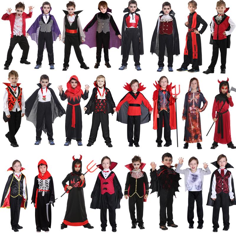 万圣节披风成人儿童男女表演出死神服装恶魔鬼服饰蝙蝠吸血鬼衣服