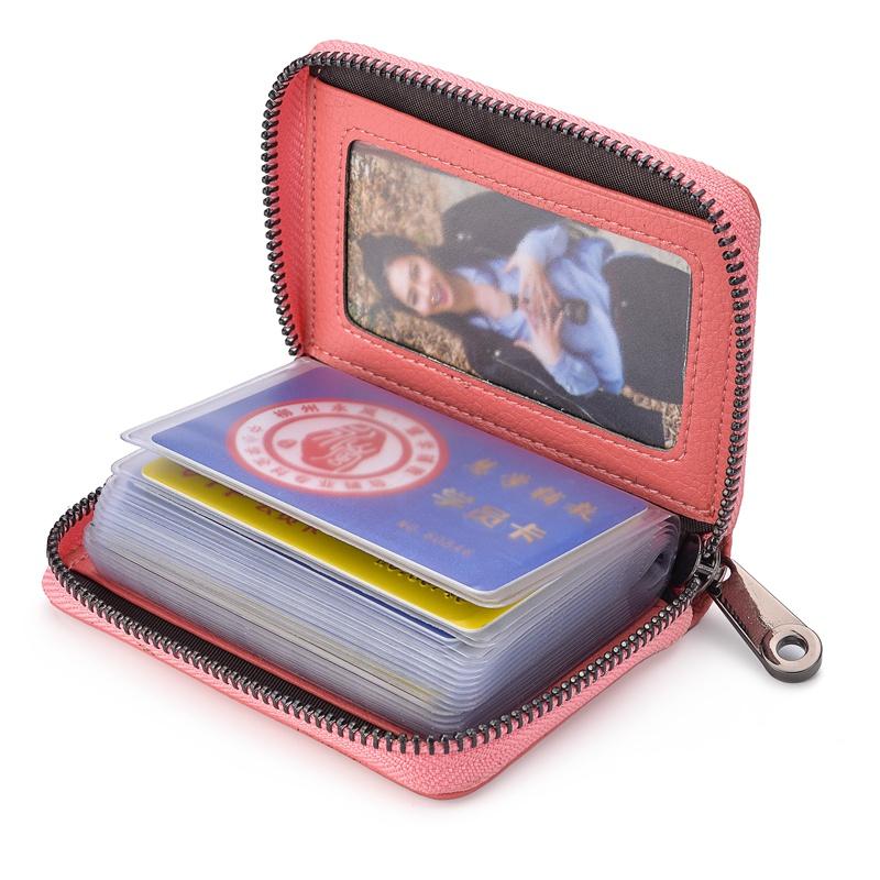 真皮防盗刷防消磁女式卡包小巧迷你信用卡套卡夹多卡位证件卡片包