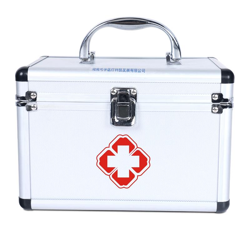 医用药箱急救箱9寸出诊箱全套家用应急医药箱带锁扣收纳