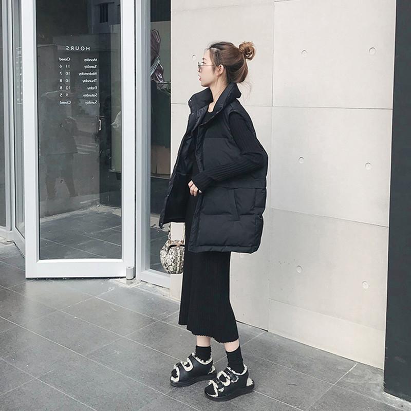 秋冬季新款韩版宽松坎肩短款棉马甲女士羽绒棉服马夹背心外套 2018