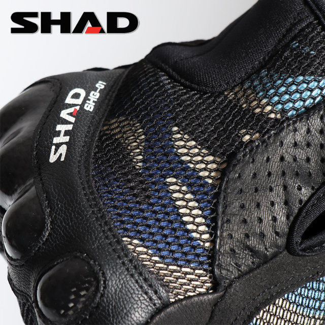 SHAD Xia De summer motorcycle riding gloves carbon fiber full finger anti-fall camouflage touch screen locomotive men and women