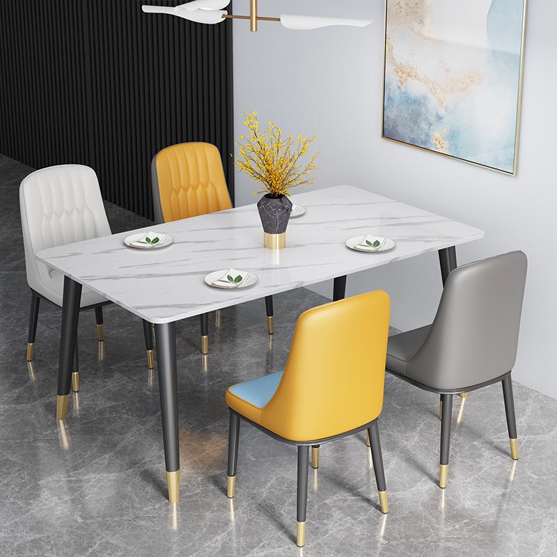 大理石面快餐桌椅组合
