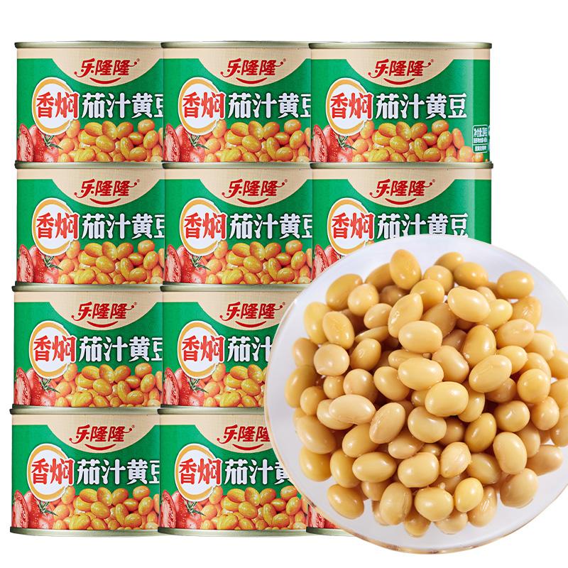 乐隆隆香焖茄汁黄豆罐头184g*6罐
