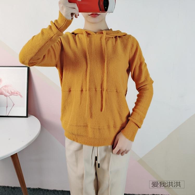 朗系列 2019冬装系列 羊毛连帽学院风休闲感针织衫毛衣卫衣036