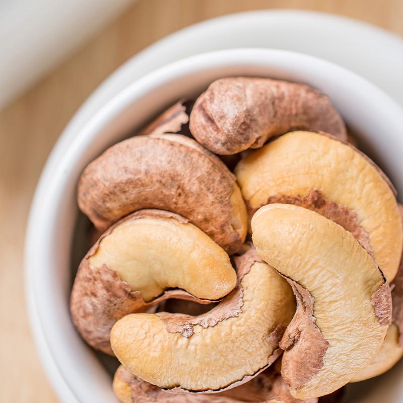 新货越南带皮腰果原味炭烧盐焗500g包邮分2罐装烘焙孕妇坚果干果