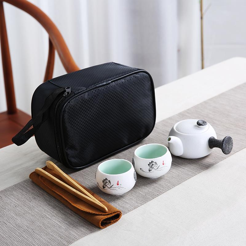 陶瓷功夫茶具攜帶型旅行包套裝一壺兩杯四杯公司活動送禮定製批發
