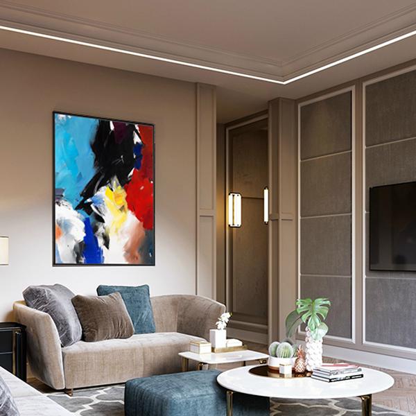 名画【原作版画】玄关抽象油画客厅办公室装饰画 沙发背简约壁画