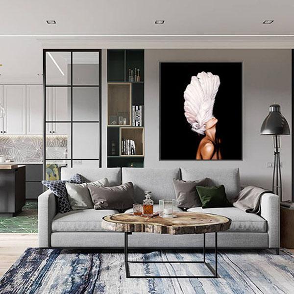 【新品】超现实油画北欧 现代简约客厅卧室装饰画三联沙发背挂画