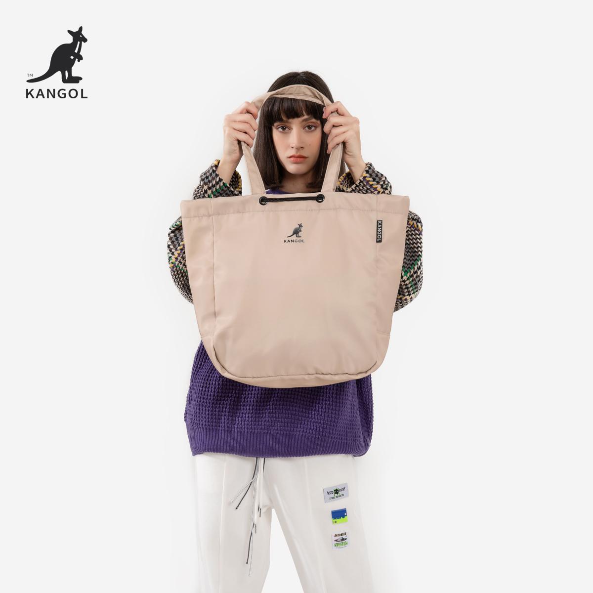 官方正品尼龙大容量包包健身防水购物袋托特单肩手提包男女 KANGOL
