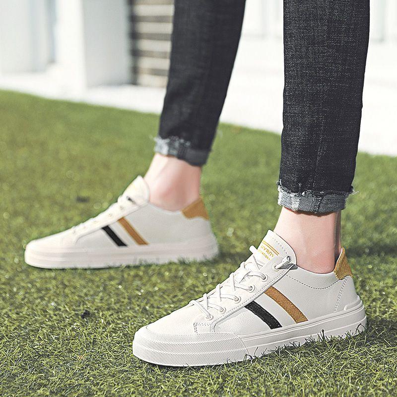 新款小白鞋男潮流百搭鞋子男单鞋 2020 男鞋夏季透气男士休闲鞋韩版