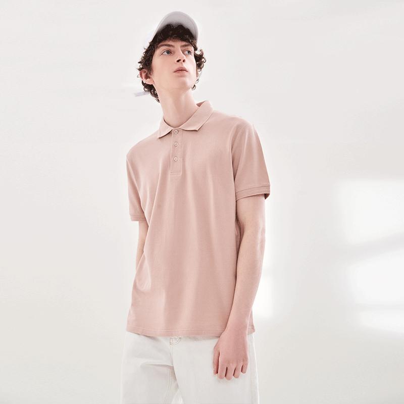 100%精梳棉,极简纯色:网易严选 男士 2021新款商务短袖POLO衫