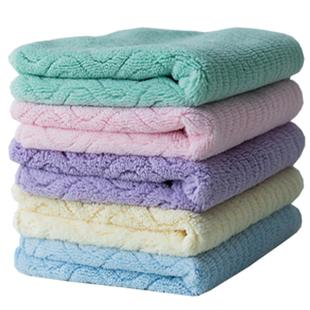 五條珊瑚絨洗臉毛巾吸水不掉毛女小方巾速干家用柔軟加厚四方手巾