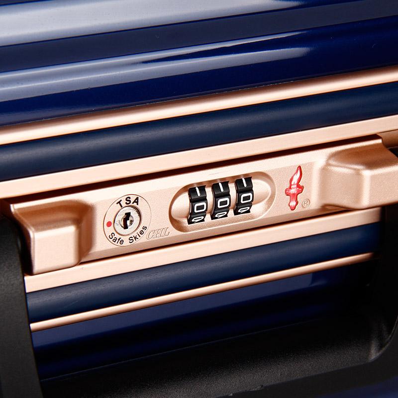寸 24 旅行箱男万向轮行李箱女 pc 大容量商务拉杆箱铝框 明星同款