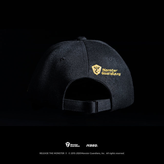 Monster Guardians original brand customization Fitness Night Tide brand sports cap black gold