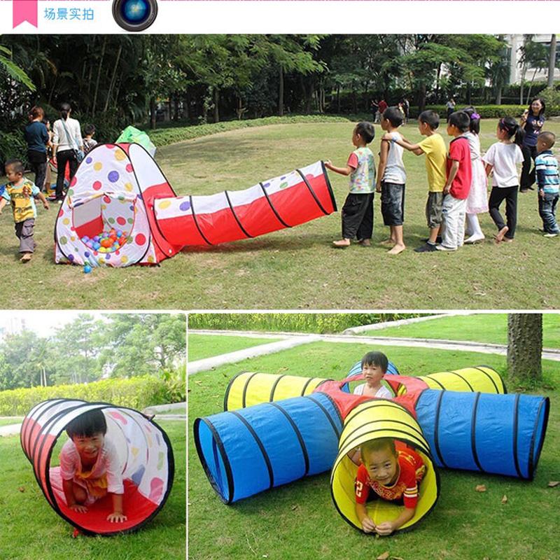 儿童阳光毛毛虫隧道爬行筒婴幼儿园钻洞趣味感统训练器材宝宝早