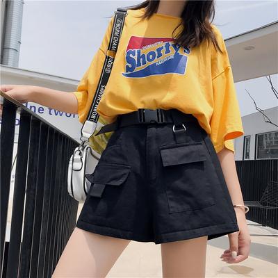 工装短裤女潮是牌子吗