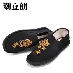 老北京刺绣男士帆布鞋