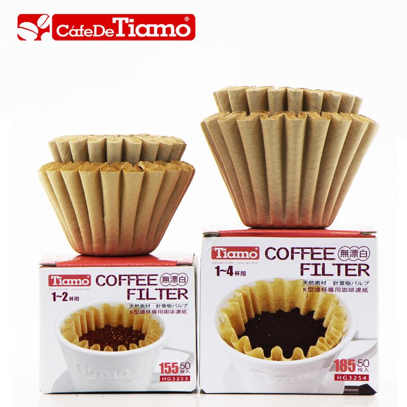 現貨Tiamo蛋糕濾紙原色針葉松木手衝咖啡濾紙155/185波浪形50枚入