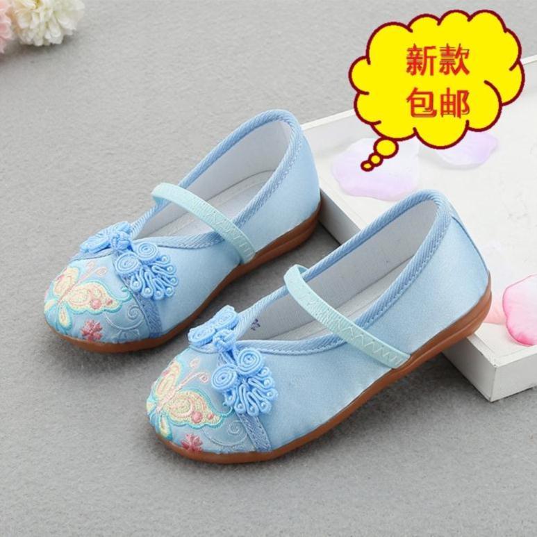 儿童鞋演出古装鞋子女汉服鞋小童洋气女童装夏款中大童百搭夏装中