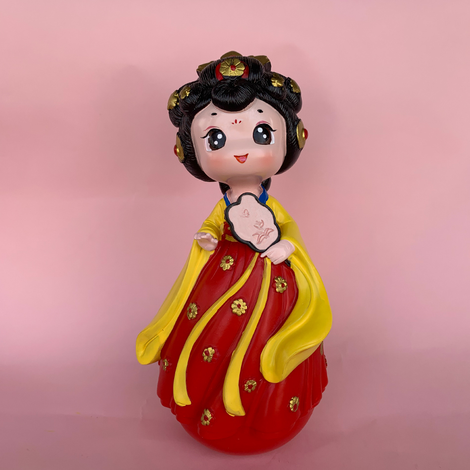 大唐不夜城不倒翁小姐姐皮卡晨同款手办西安旅游纪念品礼物