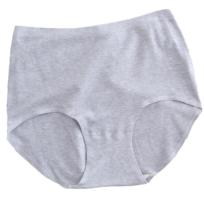 280斤加肥加大码有机彩棉简约无缝无痕内裤胖mm中高腰女士三角裤 - 图3