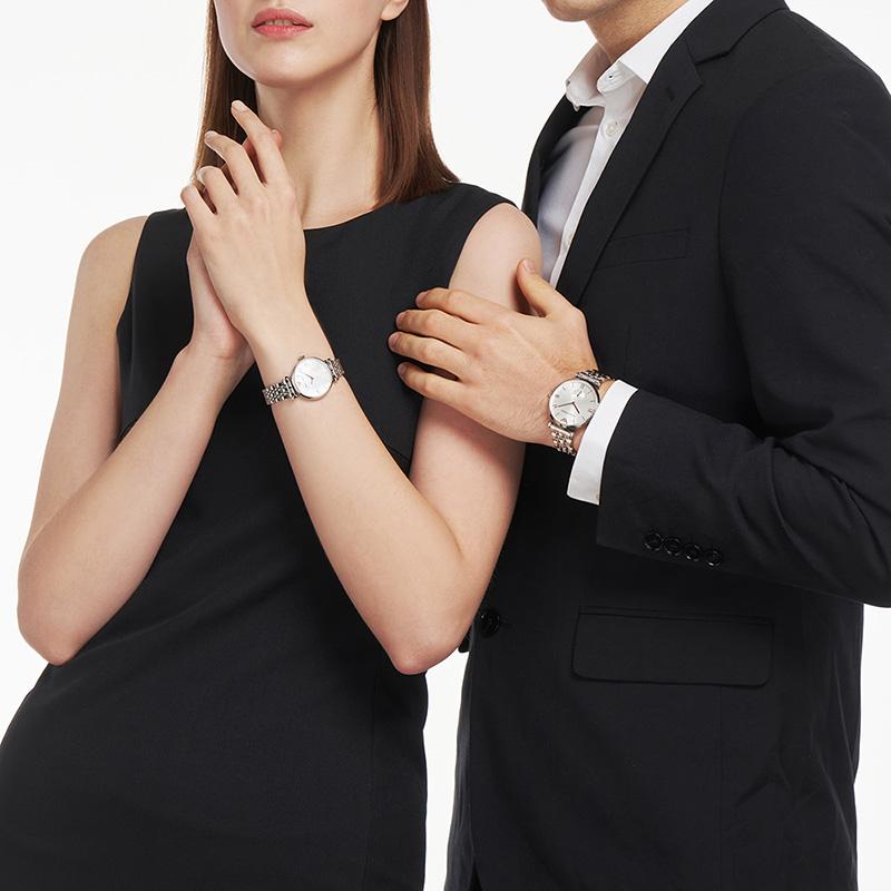 Armani阿玛尼正品新款时尚情侣手表 气质百搭男女腕表AR90004