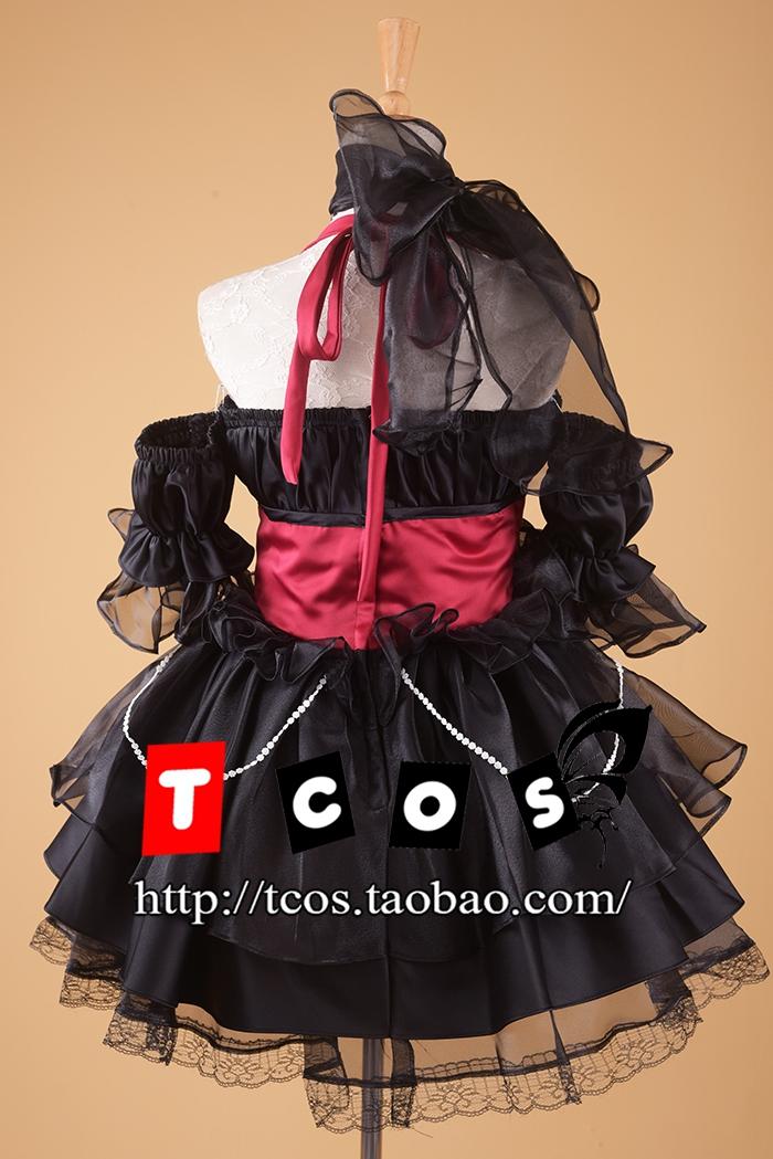 甜美可爱洛丽塔连衣裙 动漫SD黑红欧根纱 LOLITA洋装 cosplay服装
