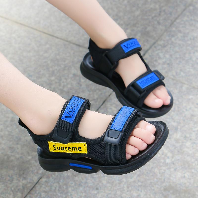 男童凉鞋2020新款夏季韩版潮帅气小童软底防滑儿童沙滩鞋中大童男