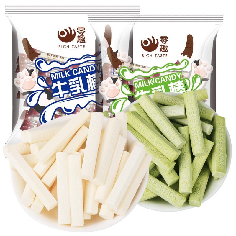 奶酪棒干吃奶片酸奶牛奶棒棒条儿童休闲零食品小吃散装糖利过年货