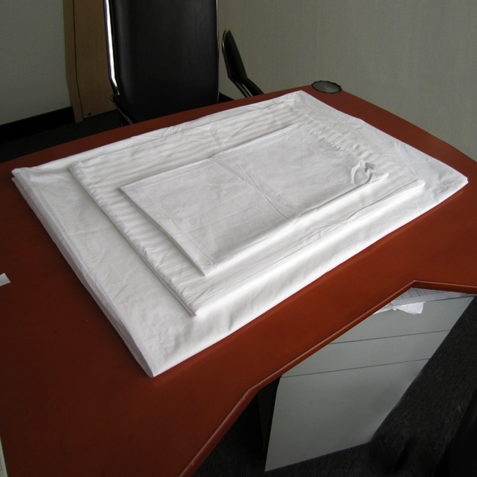 五星香格里拉酒店床上用品纯棉三件套床单被罩枕袋单人大床可订做