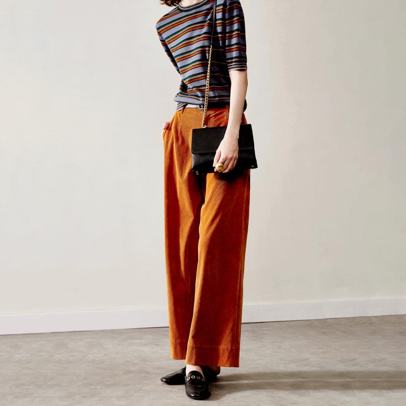 减龄羊毛条纹短袖套衫 一抹好心情 色感美 ZZ0802057 ^戎美 ^