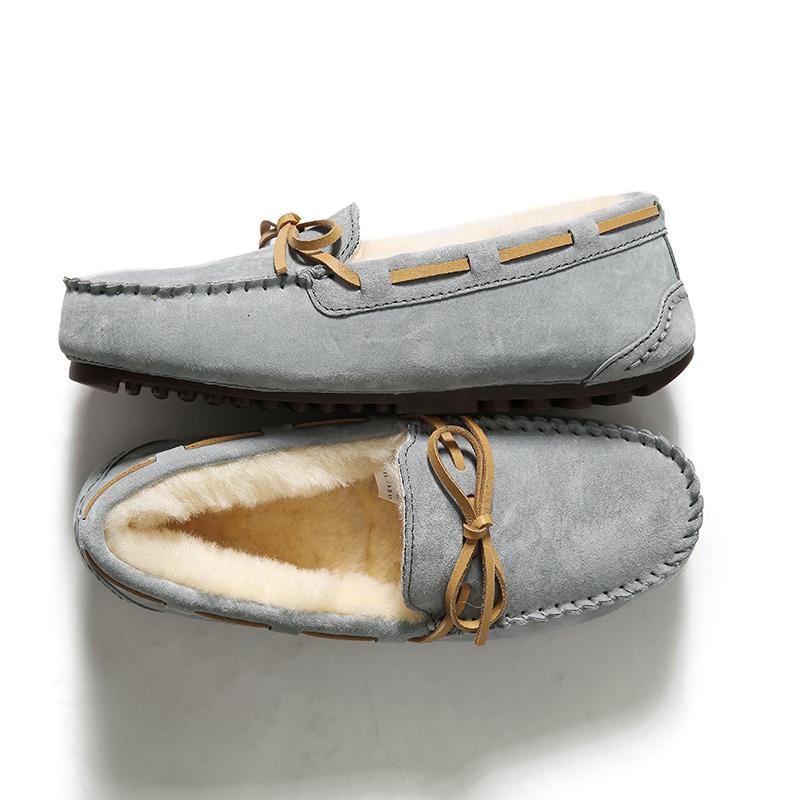 绒暖澳洲羊毛里经典蝴蝶结平底雪地豆豆鞋 SH1211118 ^戎美 ^