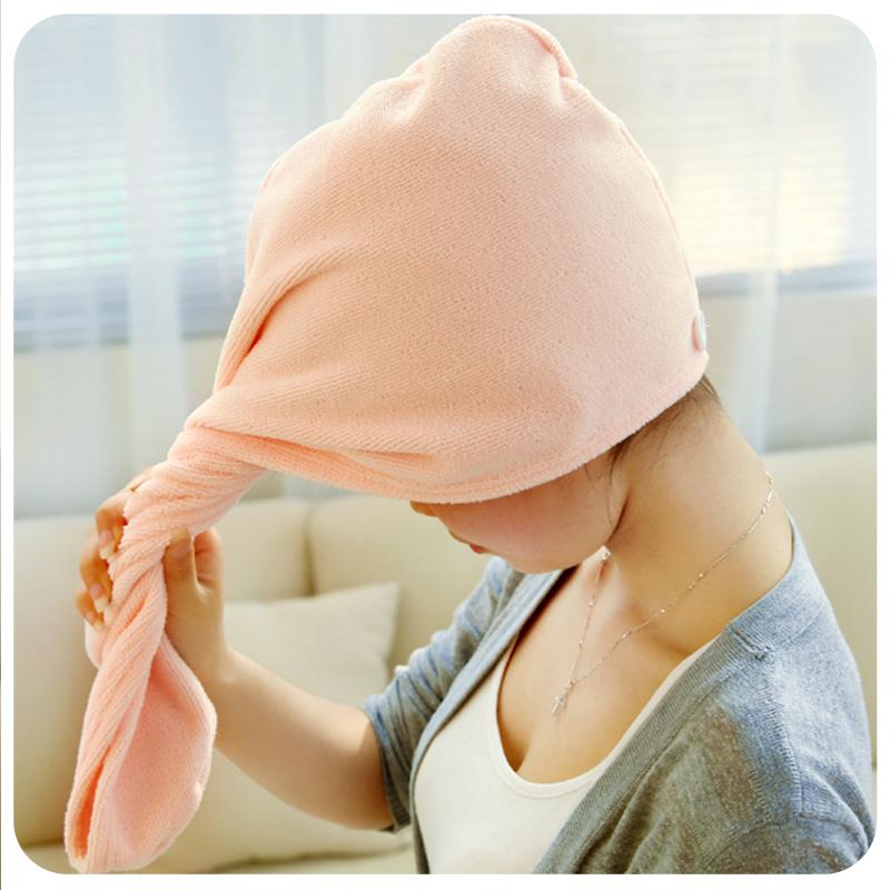 韩国加厚加大吸水毛巾干发帽包头巾 纯棉干发巾可爱吸水浴帽