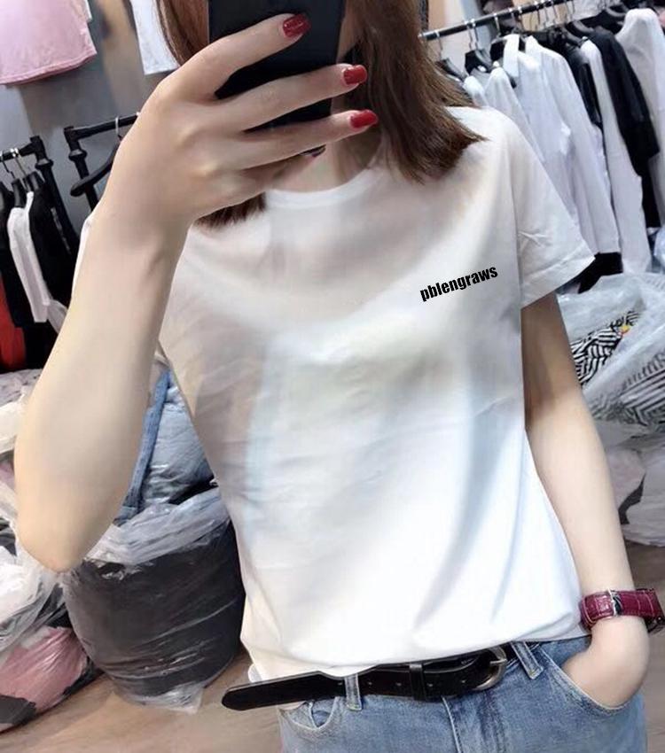 欧洲站2021夏装新款时尚欧货爆款宽松百搭白色T恤女短袖纯棉上衣主图