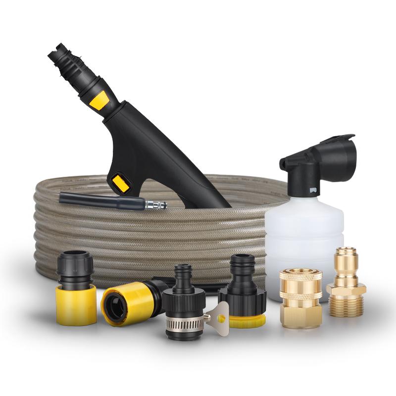 洗车机配件对接头高压水管铜接头泡沫壶清洗机专用出水快接短抢