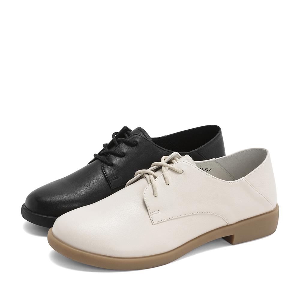 CCJ25AM9 春夏 2019 休闲英伦小皮鞋 天美意系带单鞋女 商场同款