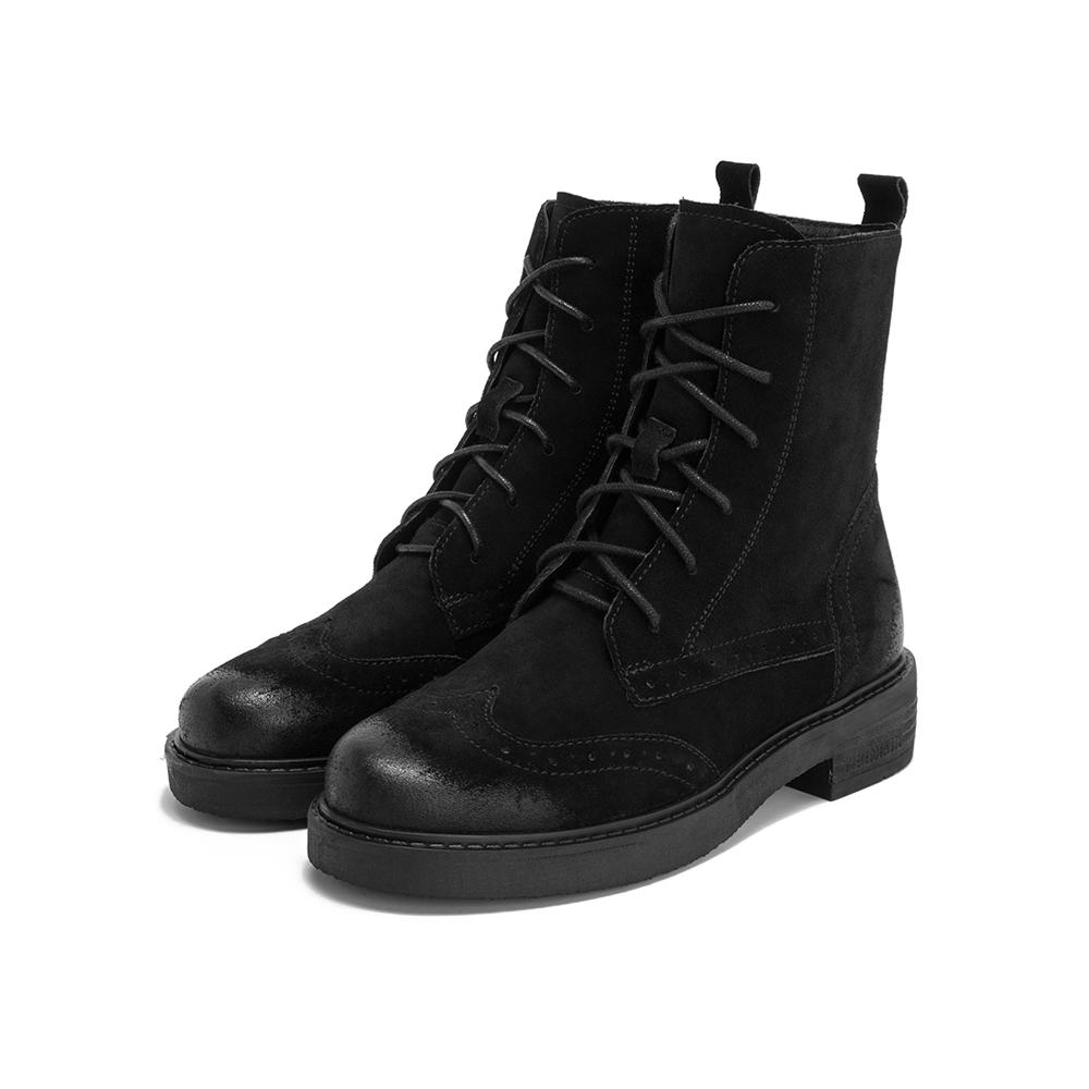 CF161DZ9 秋冬 2019 天美意马丁靴女英伦风拉链中筒靴子
